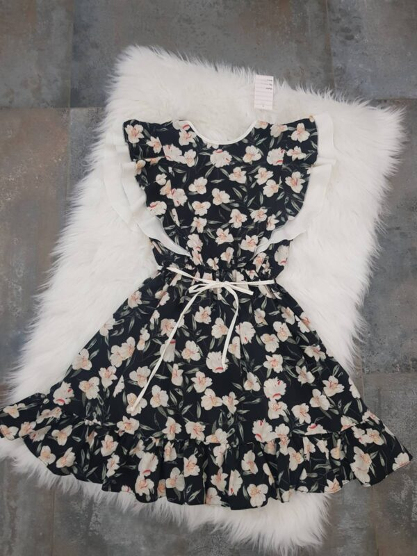 """платье красивое для девочки """"в цветах"""" черное 250521 250521 фотография"""