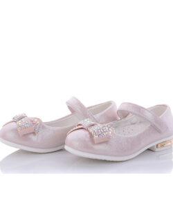 туфли на девочку нарядные розовые 27-32 811-2 фотография