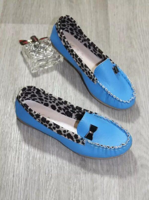 туфли мокасины для девочки подростка голубые, 35-40 1607191 фотография