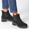 ботинки женские замшевые челси черные 151019 151019 фотография №1