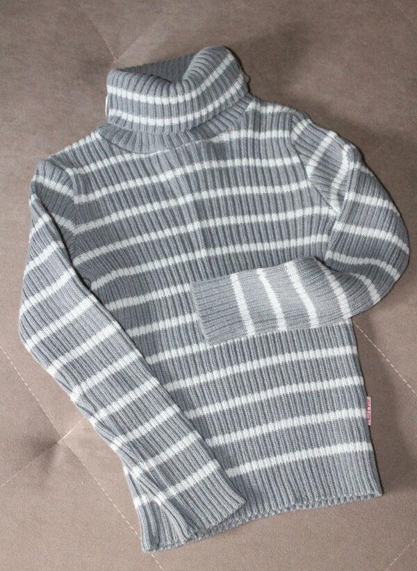 теплый гольф для мальчика серый 3422 3422 фотография