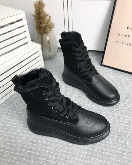 ботинки зимние 409191 для девочки подростка черные 36-41 409191 фотография