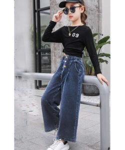брюки на девочку широкие момы вельветовые 160921 160921 фотография