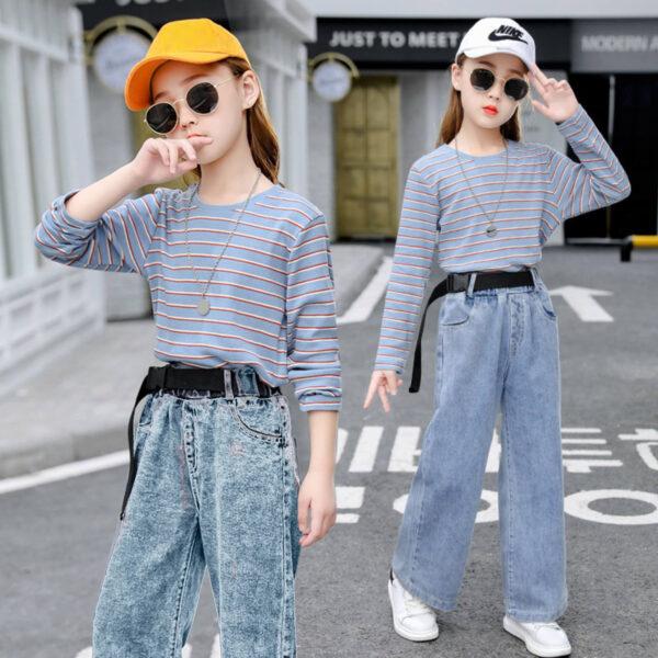 джинсы на девочку широкие момы с регланом 150921 150921 фотография