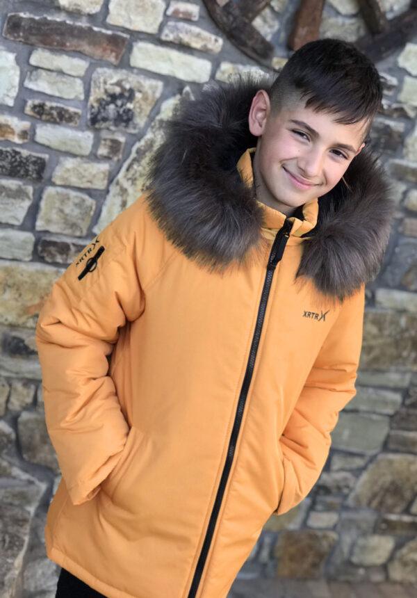 куртка для мальчика подростка зима желтая 230921 230921 фотография
