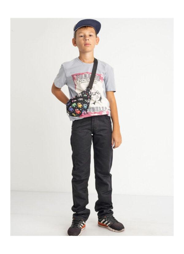 штаны на мальчика подростка черные 60921 60921 фотография