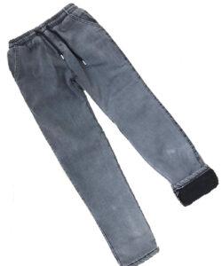 джинсы для мальчика зимние на меху серые 1662 1662 фотография