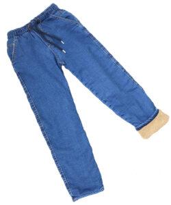 джинсы для мальчика зимние на меху синие 1661 1661 фотография