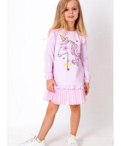 платье для девочки единорог розовое 39331 39331 фотография