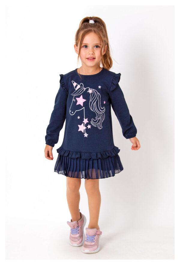 платье для девочки единорог синее 3933 3933 фотография